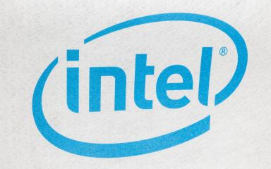 HANNOVER, GERMANY MARCH, 2017: Intel logo printed on cloth and placed on white background. Intel is one of the world's largest and highest valued semiconductor chip makers, based on revenue.- Stock Photo or Stock Video of rcfotostock | RC-Photo-Stock