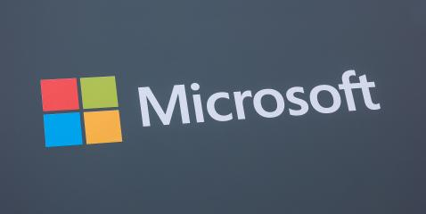 HANNOVER, GERMANY MARCH, 2017: Microsoft logo and emblem. Microsoft is an international corporation that develops, supports and sells computer software and services worldwide.- Stock Photo or Stock Video of rcfotostock | RC-Photo-Stock