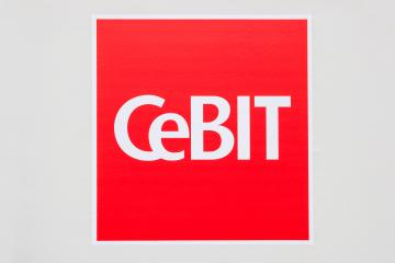 HANNOVER, GERMANY MARCH, 2017: The logo of the trade fair Cebit. The Cebit is the biggest trade fair for information technology in the world. : Stock Photo or Stock Video Download rcfotostock photos, images and assets rcfotostock | RC-Photo-Stock.: