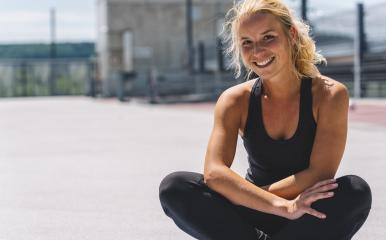 Happy attractive young woman in sportswear enjoying Relaxing after training. Cheerful mood, true emotions, healthy lifestyle, smiling  : Stock Photo or Stock Video Download rcfotostock photos, images and assets rcfotostock | RC-Photo-Stock.: