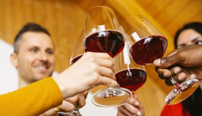 Happy friends having fun indoor - Young people enjoying time together inside at home - Youth friendship concept - Hands toasting red wine glass at home on holidays  : Stock Photo or Stock Video Download rcfotostock photos, images and assets rcfotostock | RC-Photo-Stock.: