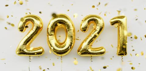 Happy New 2021 Year. Holiday gold metallic balloon numbers 2021 and falling confetti on white background : Stock Photo or Stock Video Download rcfotostock photos, images and assets rcfotostock | RC-Photo-Stock.: