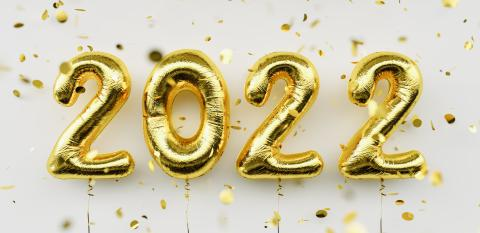 Happy New 2022 Year. 2022 golden foil balloons and falling confetti on white  background. Gold helium balloon numbers. Festive poster or banner concept image : Stock Photo or Stock Video Download rcfotostock photos, images and assets rcfotostock | RC-Photo-Stock.: