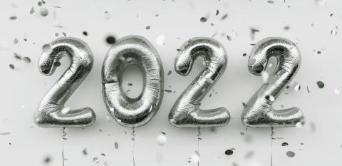 Happy New 2022 Year. 2022 silver foil balloons and falling confetti on white background. Silver helium balloon numbers. Festive poster or banner concept image : Stock Photo or Stock Video Download rcfotostock photos, images and assets rcfotostock | RC-Photo-Stock.:
