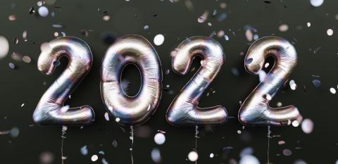 Happy New 2022 Year. 2022 tarnishing foil balloons and falling confetti on black background. Tarnish helium balloon numbers. Festive poster or banner concept image : Stock Photo or Stock Video Download rcfotostock photos, images and assets rcfotostock | RC-Photo-Stock.: