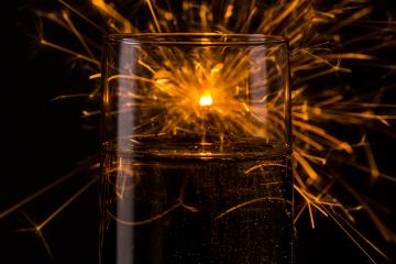 happy new year firework on a champagne glass- Stock Photo or Stock Video of rcfotostock | RC-Photo-Stock