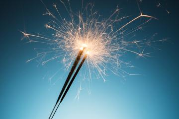 happy new year sparklers- Stock Photo or Stock Video of rcfotostock | RC-Photo-Stock