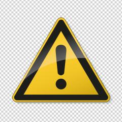 Hazard warning attention sign. Safety signs, warning Sign or Danger symbol BGV warning hazard warning exclamation mark symbol on transparent  background. Vector illustration. Eps 10 vector file.- Stock Photo or Stock Video of rcfotostock | RC-Photo-Stock