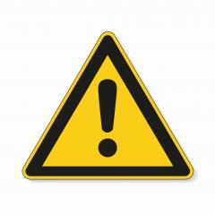 Hazard warning attention sign. Safety signs, warning Sign or Danger symbol BGV warning hazard warning exclamation mark symbol on white background. Vector illustration. Eps 10 vector file.- Stock Photo or Stock Video of rcfotostock | RC-Photo-Stock