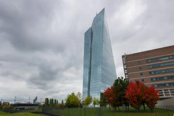 headquarters of the European Central Bank or ECB in Frankfurt am Main at a cloudy day in autumn : Stock Photo or Stock Video Download rcfotostock photos, images and assets rcfotostock | RC-Photo-Stock.: