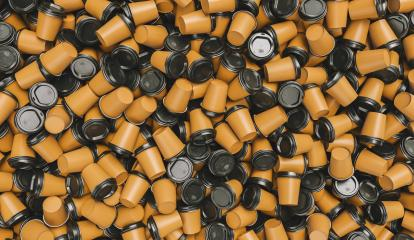 heap of brown empty to go coffee cups : Stock Photo or Stock Video Download rcfotostock photos, images and assets rcfotostock | RC-Photo-Stock.: