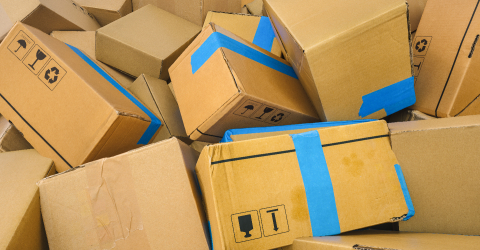 Heap of cardboard delivery boxes or parcels. Warehouse or delive- Stock Photo or Stock Video of rcfotostock | RC-Photo-Stock