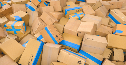 Heap of cardboard delivery boxes or parcels. Warehouse or delivery concept image : Stock Photo or Stock Video Download rcfotostock photos, images and assets rcfotostock | RC-Photo-Stock.: