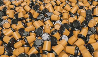 heap of empty to go coffee cups- Stock Photo or Stock Video of rcfotostock | RC-Photo-Stock