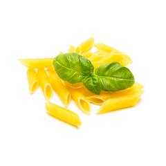 heap of penne noodles with basil : Stock Photo or Stock Video Download rcfotostock photos, images and assets rcfotostock | RC-Photo-Stock.: