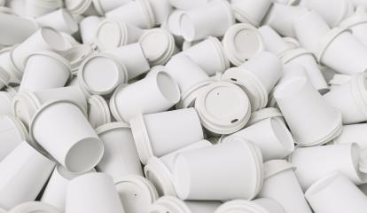 heapt of empty white to go coffee cups- Stock Photo or Stock Video of rcfotostock | RC-Photo-Stock