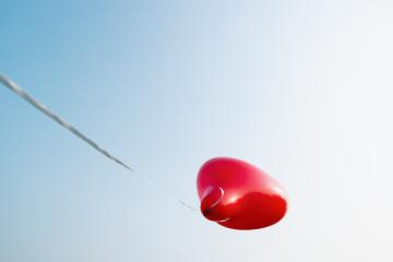 Heart shape balloon against blue sky. copyspace for your individual text. : Stock Photo or Stock Video Download rcfotostock photos, images and assets rcfotostock | RC-Photo-Stock.: