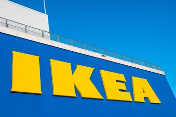 HEERLEN, NETHERLANDS FEBRUARY, 2017: IKEA logo against a blue sky. Ikea is the world's largest furniture retailer. Founded in Sweden in 1943.- Stock Photo or Stock Video of rcfotostock | RC-Photo-Stock