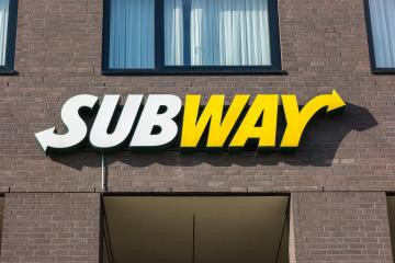 HEERLEN, NETHERLANDS FEBRUARY, 2017: Subway fast food restaurant sign. Subway is an American fast food franchise offering sub sandwiches and salads.  : Stock Photo or Stock Video Download rcfotostock photos, images and assets rcfotostock | RC-Photo-Stock.: