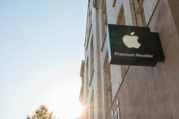HEERLEN, NETHERLANDS OCTOBER, 2017: Apple Premium Reseller logo on a Wall. Apple is the multinational technology company headquartered in Cupertino, California and sells consumer electronics products.- Stock Photo or Stock Video of rcfotostock   RC-Photo-Stock