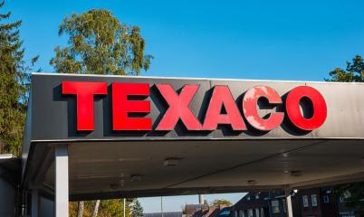 HEERLEN, NETHERLANDS OCTOBER, 2017: Texaco logo on a sign outside a petrol station. Texaco is associated with the Havoline brand of motor oil and began as the Texas Fuel Company in the year 1901.- Stock Photo or Stock Video of rcfotostock | RC-Photo-Stock