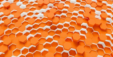 Hexagon honeycomb Background - 3D rendering - Illustration - Stock Photo or Stock Video of rcfotostock | RC-Photo-Stock