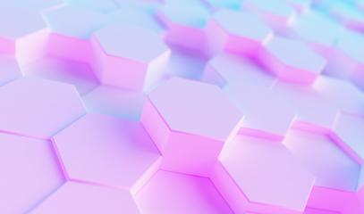 hexagonal background. Futuristic technology concept. colorful bright neon uv blue and purple Hex geometry pattern.- Stock Photo or Stock Video of rcfotostock | RC-Photo-Stock