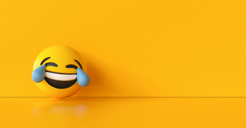 HHappy and crying emoji  background, social media and communications concept image, banner size, copyspace for your individual text.- Stock Photo or Stock Video of rcfotostock | RC-Photo-Stock