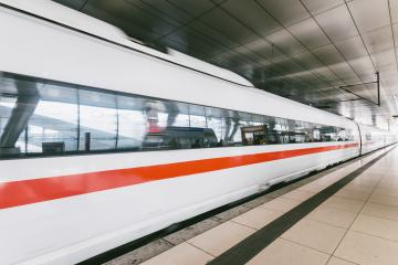 high speed train in motion on railway station- Stock Photo or Stock Video of rcfotostock | RC-Photo-Stock