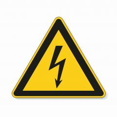 High Voltage Sign. Safety signs, warning Sign or Danger symbol BGV warning Black arrow danger high voltage on white background. Vector illustration. Eps 10 vector file.- Stock Photo or Stock Video of rcfotostock | RC-Photo-Stock