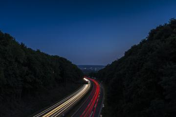 highway at night with lighttrails to aachen- Stock Photo or Stock Video of rcfotostock | RC-Photo-Stock