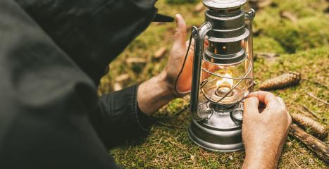 Hiker ignite a Gasoline lantern in the forest. authentic close-up shot. Travel concept image- Stock Photo or Stock Video of rcfotostock | RC-Photo-Stock