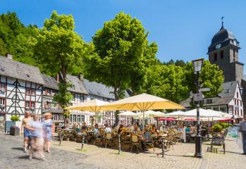 historic marketplace at the old town of monschau- Stock Photo or Stock Video of rcfotostock | RC-Photo-Stock
