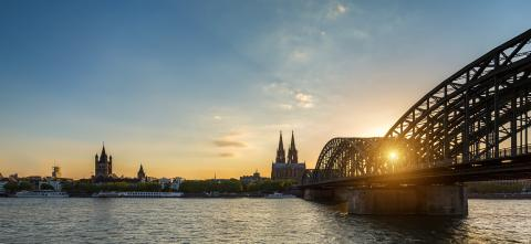Hohenzollern Bridge and cologne cathedral at sunset- Stock Photo or Stock Video of rcfotostock | RC-Photo-Stock