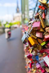 Hohenzollern Bridge with Love Locks in cologne- Stock Photo or Stock Video of rcfotostock | RC-Photo-Stock