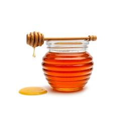 Honey pot and dipper isolated on white background, package design concept image : Stock Photo or Stock Video Download rcfotostock photos, images and assets rcfotostock | RC-Photo-Stock.: