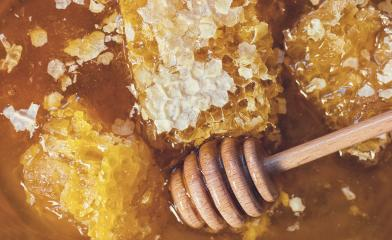 Honeycombs with Honey dipper : Stock Photo or Stock Video Download rcfotostock photos, images and assets rcfotostock | RC-Photo-Stock.: