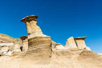 Hoodoos in summer at Drumheller Alberta canada : Stock Photo or Stock Video Download rcfotostock photos, images and assets rcfotostock | RC-Photo-Stock.: