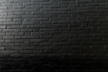 horizontal part of black painted brick wall- Stock Photo or Stock Video of rcfotostock | RC-Photo-Stock