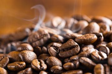 hot coffee beans with smoke : Stock Photo or Stock Video Download rcfotostock photos, images and assets rcfotostock   RC-Photo-Stock.: