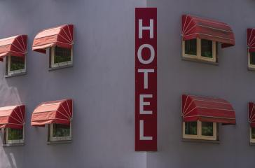 hotel sign. travel concept image- Stock Photo or Stock Video of rcfotostock | RC-Photo-Stock