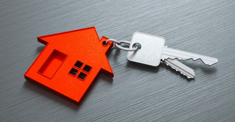 House as a pendant on a key on dark table as a house purchase and housing concept- Stock Photo or Stock Video of rcfotostock   RC-Photo-Stock