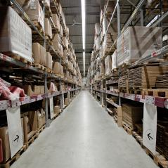Huge distribution warehouse with high shelves- Stock Photo or Stock Video of rcfotostock | RC-Photo-Stock