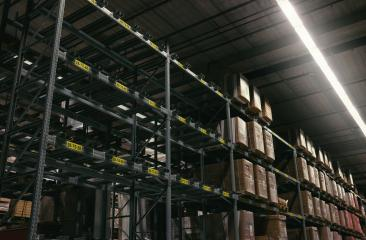 Huge distribution warehouse with high shelves : Stock Photo or Stock Video Download rcfotostock photos, images and assets rcfotostock | RC-Photo-Stock.: