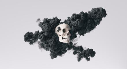 Human Skull side view with black ink smoke cloud Pirate Poison Horror Symbol Halloween Medical. Abstract Anatomy and medicine concept image. : Stock Photo or Stock Video Download rcfotostock photos, images and assets rcfotostock   RC-Photo-Stock.:
