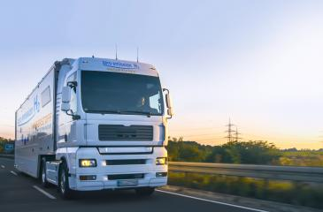 hydrogen fueled truck on the road driving. h2 combustion Truck engine for emission free ecofriendly transport.  : Stock Photo or Stock Video Download rcfotostock photos, images and assets rcfotostock | RC-Photo-Stock.: