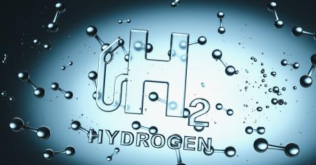 Hydrogen H2 gas pump Symbol with hydrogen molecules floating in liquiq - clean energy concept image : Stock Photo or Stock Video Download rcfotostock photos, images and assets rcfotostock   RC-Photo-Stock.: