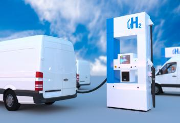 hydrogen logo on gas station. h2 combustion engine for emission free ecofriendly transport.- Stock Photo or Stock Video of rcfotostock | RC-Photo-Stock