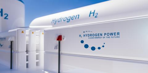 Hydrogen renewable energy production - hydrogen gas for clean electricity solar and windturbine facility. 3d rendering.- Stock Photo or Stock Video of rcfotostock | RC-Photo-Stock