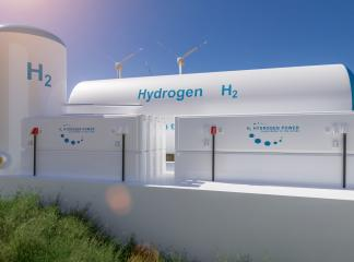 Hydrogen renewable energy production - hydrogen gas for clean electricity solar and windturbine facility. 3d rendering. : Stock Photo or Stock Video Download rcfotostock photos, images and assets rcfotostock | RC-Photo-Stock.: